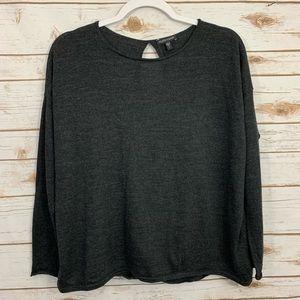 Eileen Fisher Open Back Merino Wool Sweater S